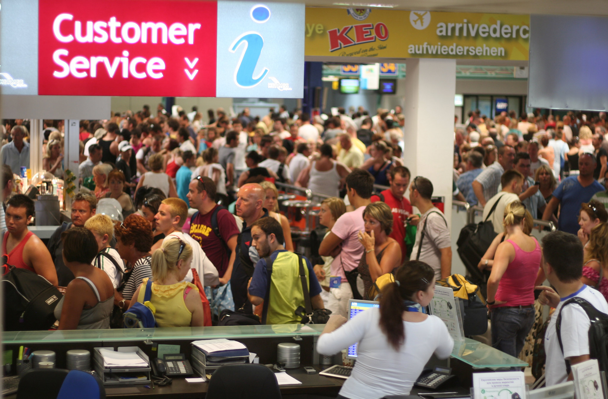 Unruly Crowded Terminal